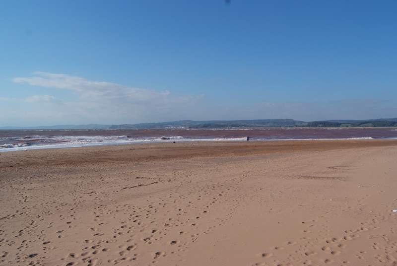 East Devon has some wonderful beaches - this is sandy Exmouth - stretching all along the World Heritage Jurassic Coast.
