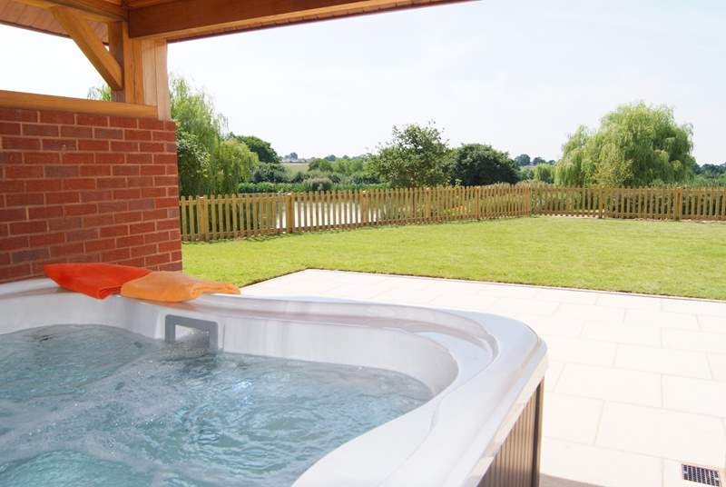 This is the view from your hot tub !