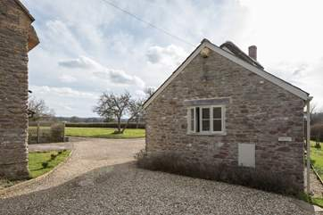 Pound Farm Cottage has its own driveway and plenty of space to park in front of the cottage.