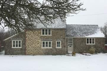 Pound Farm Cottage looks fabulous all year round.