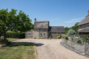 Pound Farm Cottage is beside the owner's home, but has a separate entrance and very private garden behind the cottage.