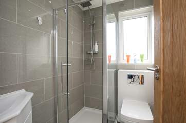 There is a shower-room situated on the ground floor, perfect to wash away the remnants of todays fun on the beach.
