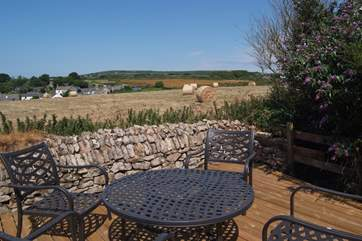 Lovely views from the decked terrace