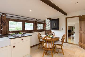 The stable-door is great for bringing in fresh air and sunlight to start the day.