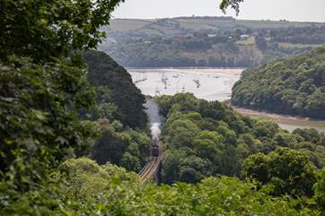 What a view! Sat on your patio, the passing steam train is a frequent occurrence, and quite a spectacle.