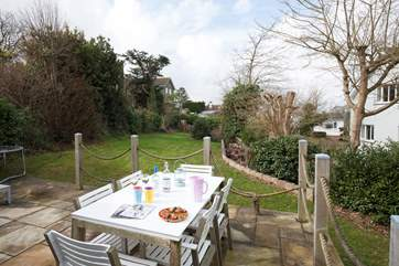 Enjoy al fresco dining on the patio whilst watching the little ones play on the lawn.