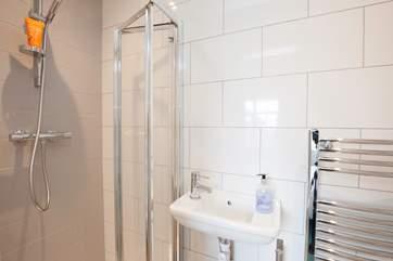 En suite shower-room to the ground floor bedroom.