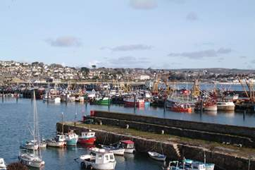 Newlyn Harbour, just a walk along the footpath away.