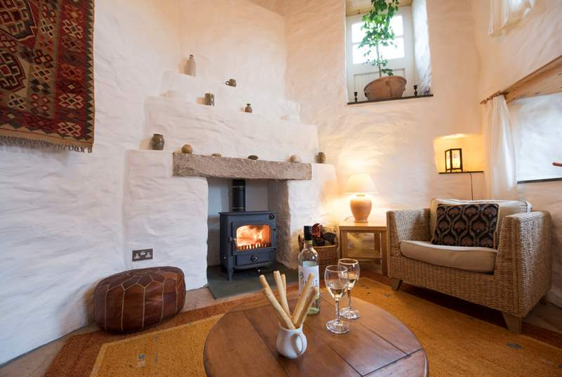Cosy up in front of the wood-burner.