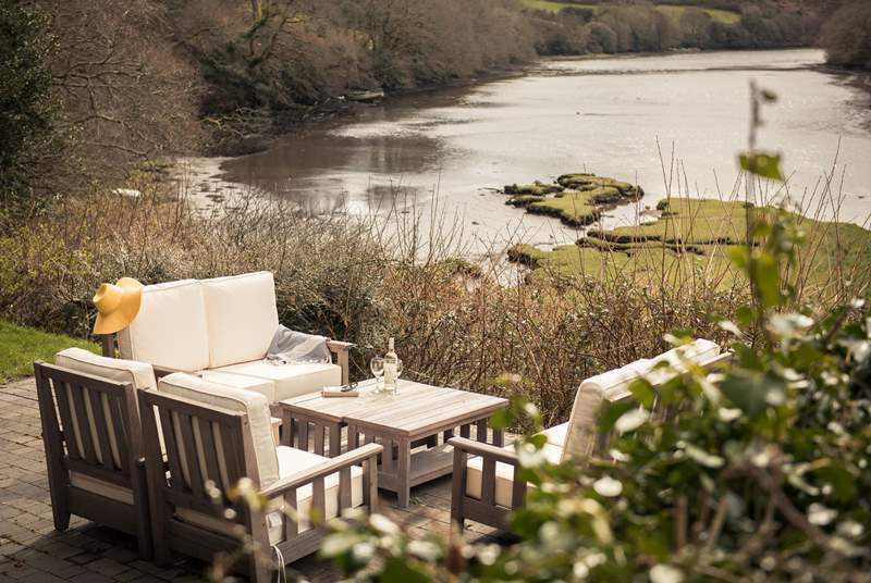 A tranquil spot overlooking tidal Polwheveral Creek.