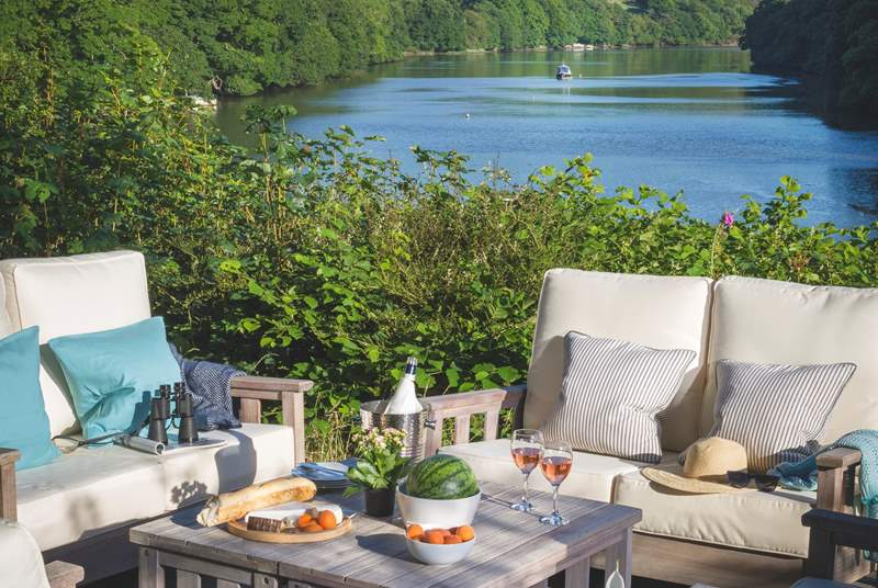 Relax in the sunshine and enjoy the views of the Polwheveral Creek whilst you dine together al fresco.