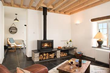 The tasty wood-burner is a welcome sight on those out-of-season breaks.