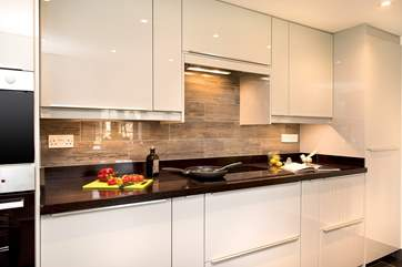 The kitchen is beautifully appointed and has all that you need.