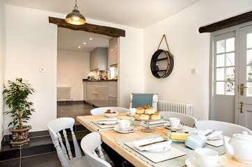 Light and airy The Linhay is simply yet stylishly furnished.