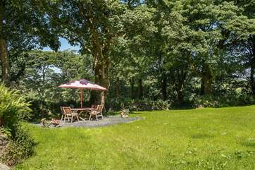 The owners have provided a dedicated  patio-area in the garden for your use.