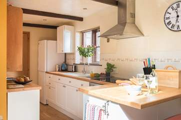 The kitchen-area, with all you need to dine in style.