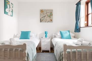 The sweet little twin bedroom.
