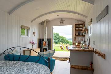 And you can even take those stunning views from the king-size bed - bliss!