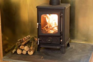 The roasty toasty wood-burner will keep you cosy.
