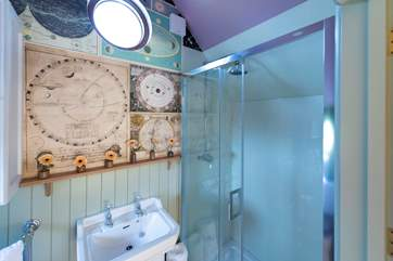 The en suite shower-room is just as special as the rest of the Observatory.