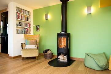Unwind and relax in front of the wood-burner after an exciting day out exploring the coast.