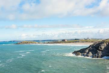 Take to the Atlantic rollers at the beaches along this stretch of coastline or admire the experts at play at the world renowned Fistral beach.