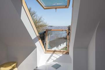 The fabulous Velux window in bedroom 5 offers great views and oodles of that magical Devon air.
