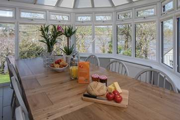 Imagine sitting here eating your breakfast. What a way to start the day, taking in your beautiful surroundings.