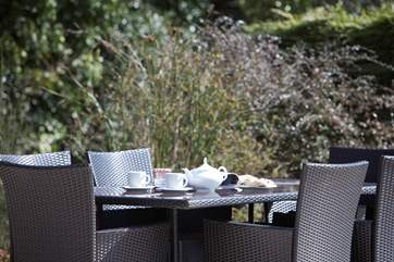 Why not have a cream tea in the delightful garden?