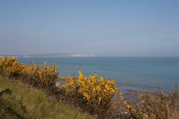 Cliff top view from the path between Shanklin and Sandown
