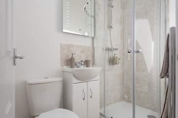 The modern en suite shower-room.