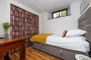 The single bedroom on the ground floor.
