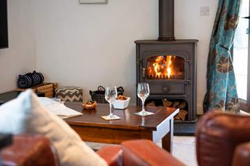 Put your feet up, find a book and relax in front of the roaring wood-burner.