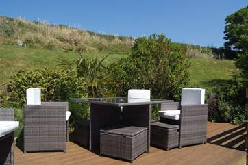 Relax on the terrace in the huge enclosed garden.