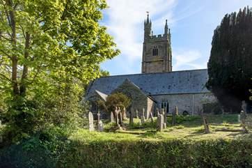 The pretty village church.