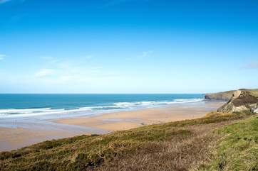 Stunning Watergate Bay -  enjoy time on the beach or join the Extreme Academy for some extreme sports.