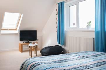 Bedroom 4 is perfect for the children, as has its own TV and sea views.