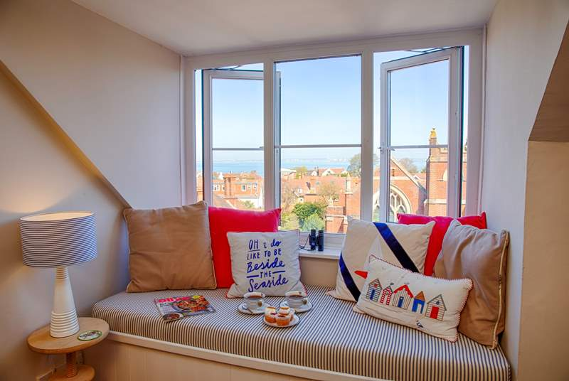 This cosy window seat is the perfect spot to watch the passing ships, whatever the weather!