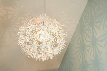 The fabulous light in bedroom 1.
