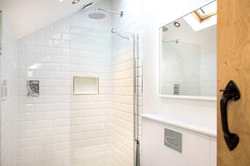 The stylish shower-room on the first floor.