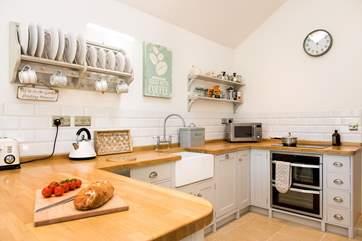 The bespoke hand-built kitchen.