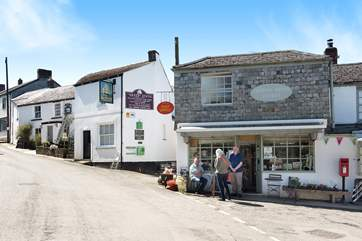 The village pub, stores and tea room are a short stroll down the hill from Sweet Briar Cottage.