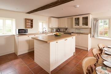 Whilst very much contemporary, the kitchen suits Affeton Barton very comfortably, bringing modern day living to an historic property.
