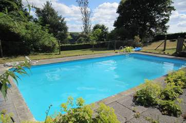 This is the open air unheated swimming pool. It is fenced but please supervise children at all times.