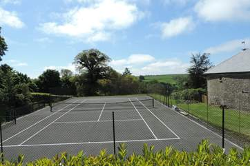 The tennis court is just off to the side of your dedicated garden.