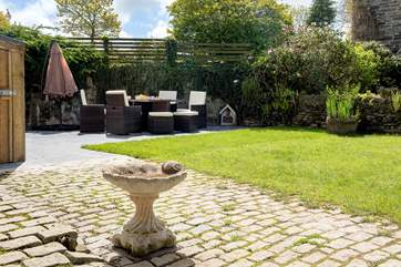 The sunny garden - there is also another terrace for you to sit out and enjoy the surroundings.