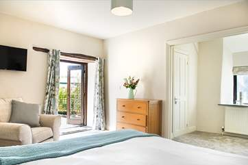 Bedroom 1 is a lovely room - light and airy with lots of space and your own TV!