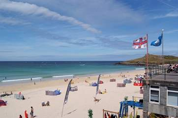Just one of the soft sandy beaches at St Ives.