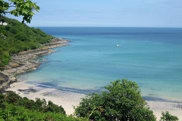 The stunning beach at nearby Carbis Bay.