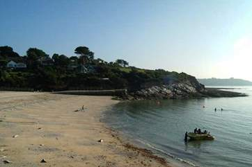 Watersports on offer at Swanpool Beach in Falmouth.